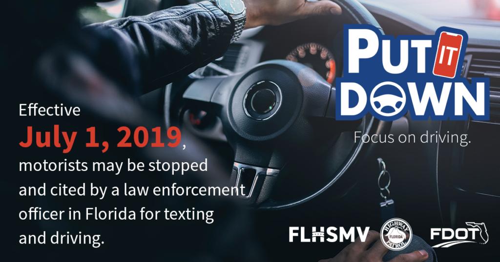 FDOT Put It Down Texting Driving Carlos Gonzalez Law